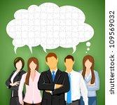 illustration of business team... | Shutterstock .eps vector #109569032