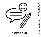 testimonial icon isolated on...   Shutterstock .eps vector #1095690365