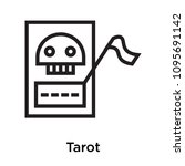 tarot icon isolated on white... | Shutterstock .eps vector #1095691142