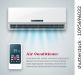 air conditioner vector... | Shutterstock .eps vector #1095696032