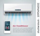 air conditioner vector... | Shutterstock .eps vector #1095696032