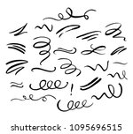 hand drawn decorative curls ... | Shutterstock .eps vector #1095696515