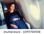traveling at first class.... | Shutterstock . vector #1095700508
