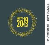 creative happy new year 2019... | Shutterstock .eps vector #1095703286