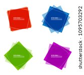 vector set of colored banners... | Shutterstock .eps vector #1095703292