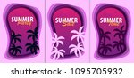 set of summer time banners with ... | Shutterstock .eps vector #1095705932