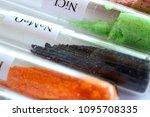 crystals of sodium permanganate ... | Shutterstock . vector #1095708335