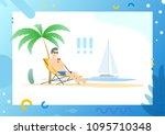 male wearing glasses lying on...   Shutterstock .eps vector #1095710348