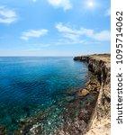 picturesque sunshiny seascape...   Shutterstock . vector #1095714062