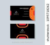 modern business card template... | Shutterstock .eps vector #1095718262