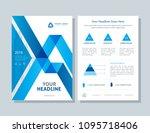 annual report  broshure  flyer  ... | Shutterstock .eps vector #1095718406