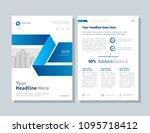 annual report  broshure  flyer  ... | Shutterstock .eps vector #1095718412