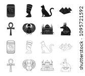 anubis  ankh  cairo citadel ... | Shutterstock .eps vector #1095721592