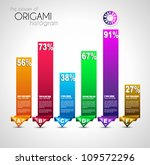 origami style ranking paper.... | Shutterstock .eps vector #109572296