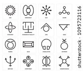 set of 16 simple editable icons ... | Shutterstock .eps vector #1095723116