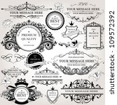 design elements vector set | Shutterstock .eps vector #109572392