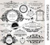 design elements vector set | Shutterstock .eps vector #109572392