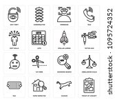 set of 16 simple editable icons ...   Shutterstock .eps vector #1095724352