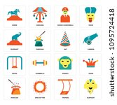set of 16 simple editable icons ...   Shutterstock .eps vector #1095724418