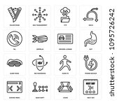 set of 16 simple editable icons ...   Shutterstock .eps vector #1095726242