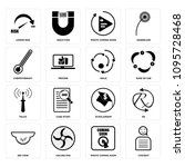 set of 16 simple editable icons ... | Shutterstock .eps vector #1095728468