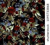 beautiful watercolor pattern... | Shutterstock . vector #1095733868