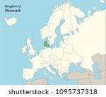 europe map  denmark | Shutterstock .eps vector #1095737318