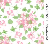 beautiful seamless pattern with ... | Shutterstock .eps vector #1095737786