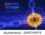 eos. crypto currency. block... | Shutterstock .eps vector #1095743975