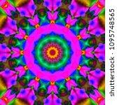 decorative fantasy   flower...   Shutterstock . vector #1095748565