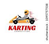 kart driver sport logo icon.... | Shutterstock .eps vector #1095757538