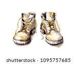 Hiking Shoes   Hand Drawn...