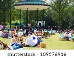 london july 27 people enjoying...   Shutterstock . vector #109576916