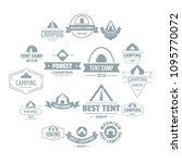 camping tent logo icons set....   Shutterstock .eps vector #1095770072