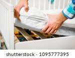 construction of bed for... | Shutterstock . vector #1095777395