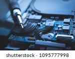 computer repair hardware... | Shutterstock . vector #1095777998