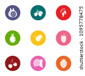 produce icons set. flat set of... | Shutterstock .eps vector #1095778475