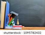 hat graduation model on pencils ... | Shutterstock . vector #1095782432