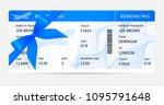 boarding pass  ticket  traveler ... | Shutterstock .eps vector #1095791648