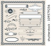 calligraphic design elements... | Shutterstock .eps vector #109579256