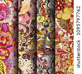 set of tracery colorful... | Shutterstock .eps vector #1095797762
