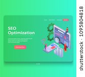 seo optimization web page... | Shutterstock .eps vector #1095804818