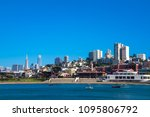 san francisco with famous... | Shutterstock . vector #1095806792