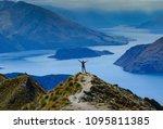 woman hiking in new zealand   Shutterstock . vector #1095811385