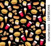 fast food seamless pattern | Shutterstock .eps vector #109581446