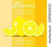 lemon geometric seamless... | Shutterstock .eps vector #1095833222