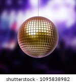 3d render of disco ball   Shutterstock . vector #1095838982