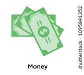 money icon isolated on white... | Shutterstock .eps vector #1095841352