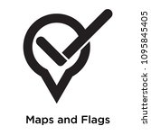 maps and flags check icon...