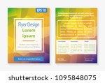 flyer design template vector in ... | Shutterstock .eps vector #1095848075